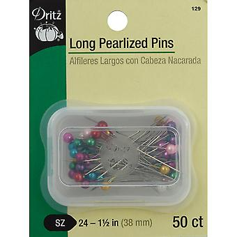 Long Pearlized Pins-Size 24 50/Pkg 129