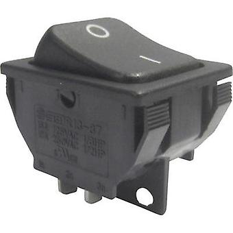 Toggle switch 250 Vac 10 A 1 x Off/On SCI R13-87A-02 latch 1 pc(s)