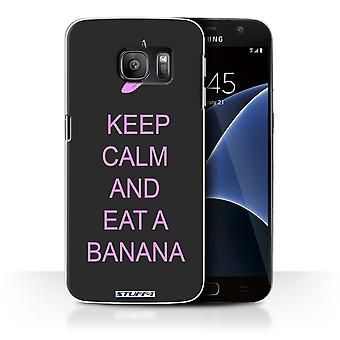 STUFF4 Case/Cover for Samsung Galaxy S7/G930/Eat a Banana/Pink/Keep Calm