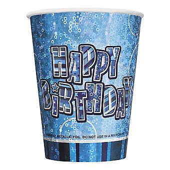 Pack of 8 BlueHappy Birthday Party Cups Prismatic Party ware, Table ware Decorations