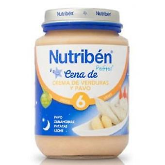 Nutribén Dinner creamed vegetables and turkey 200 Gr