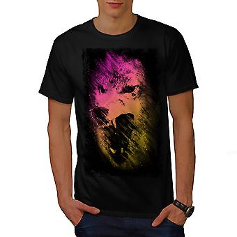Wellcoda | Wolf Pack Leader Mens zwart T-shirt
