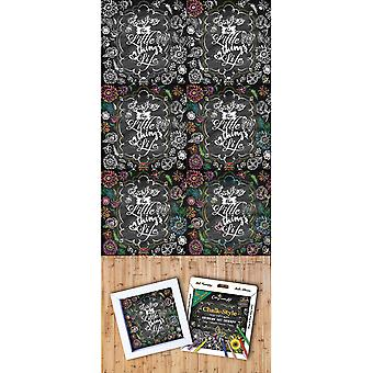 Adult Coloring Foldable Canvas Frame Assortment 4/Pkg-Black Be Happy B1619