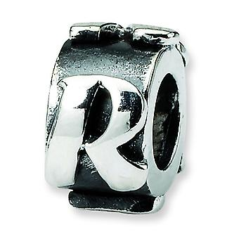 Sterling Silver Reflections Letter R Message Bead Charm
