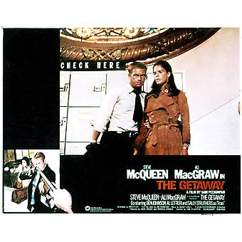 The Getaway Steve Mcqueen Ali Macgraw 1972 Movie Poster Masterprint