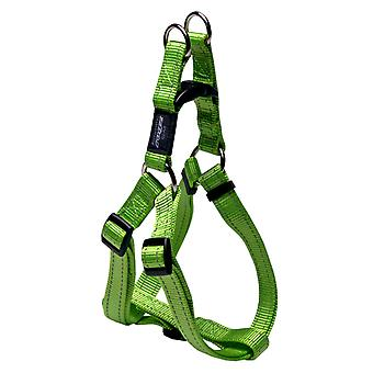 Rogz Fanbelt Reflective Nylon Step-in Harness Lime Green 20mm