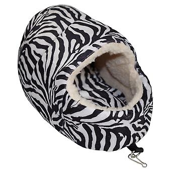 Little Friends Snuggle Up Rat Slipper Toy Zebra Print
