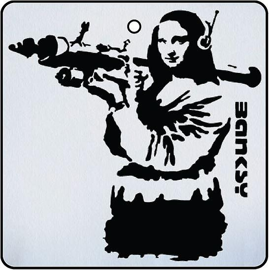 Banksy RPG Mona Lisa Car Air Freshener