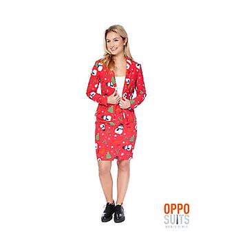 Christian Miss ladies Christmas costume red Opposuit 70 Slimline 2 premium