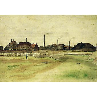Vincent Van Gogh - Coalmine in the Borinage, 1879 Poster Print Giclee