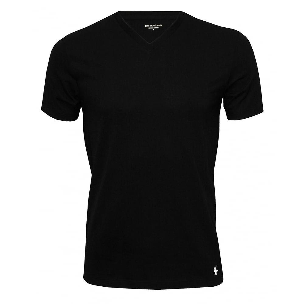 Polo Ralph Lauren 2-Pack Classic Cotton V-Neck T-Shirts, Black