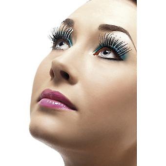 Great selection of fake eyelashes black with silver