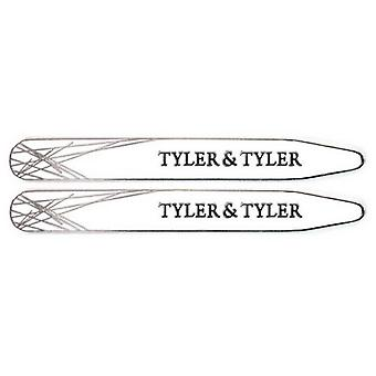 Tyler and Tyler Enamel Diffusion Collar Stiffeners - White