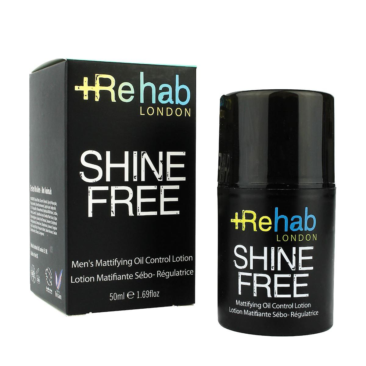 Rehab London Shine Free Men's Mattifying Oil Control Lotion 50ml