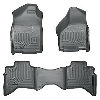 Husky Liners Floor Mats - WeatherBeater 98032 Grey Fits: DODGE 2002 - 2008 RAM