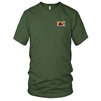 187th aanval helikopter bedrijf Tay Nimh AH-1 Cobra silhouet op Vietnam Service lint geborduurd Patch - Mens T Shirt