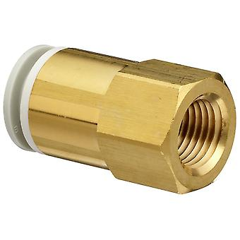 SMC Pneumatic Straight Threaded-To-Tube Adapter, 12Mm