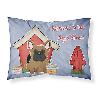 Dog House Collection French Bulldog Brown Fabric Standard Pillowcase