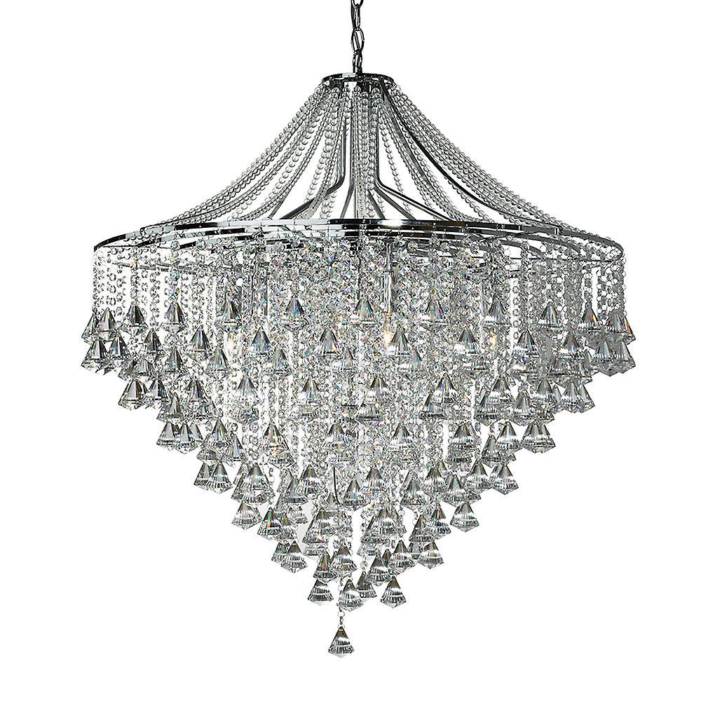 Searchlight 3497-7CC Dorchester 7 Light Crystal Chandelier