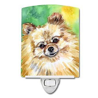 Carolines Treasures  7393CNL Pomeranian Sissy Ceramic Night Light