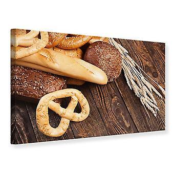 Canvas Print brood en krakeling