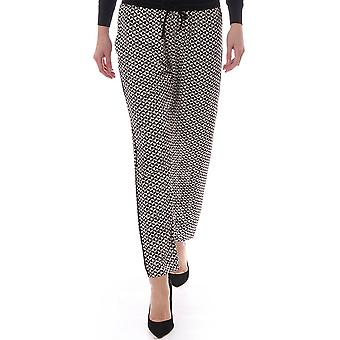 Maison Scotch Mosaic Printed Sliky Relaxed Fit Trousers