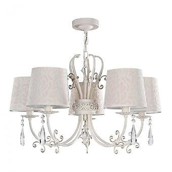 Maytoni Lighting Emilia Elegant Collection Chandelier, Cream