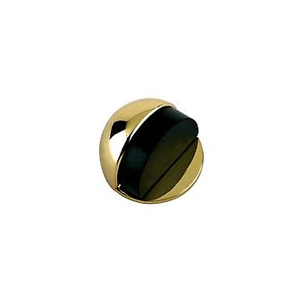 Zoo Door Stop - Floor Mounted - Oval - Solid - Polished Brass - ZAB06