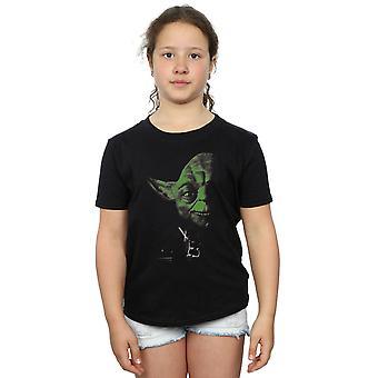 Star Wars Girls Yoda Green Face T-Shirt