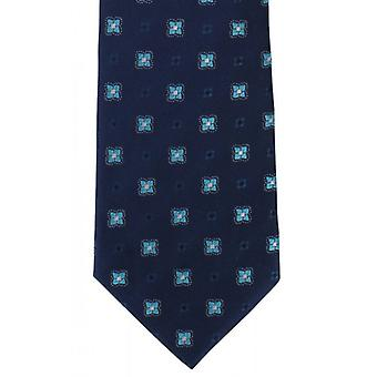 Michelsons of London Traditional Neat Silk Tie - Navy
