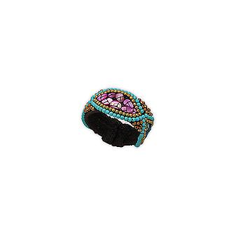 Bracelet beads turquoise and Pearl violet