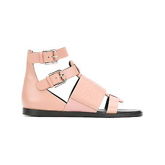 Balmain ladies S8FC156PGDB1021 pink leather sandals