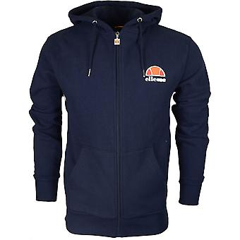 Ellesse Miletto Cotton Hooded Full Zip Navy Hoodie