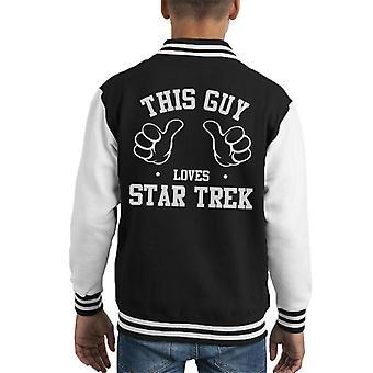 Ten facet kocha dziecko Star Trek uniwerek kurtka