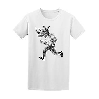 Verkleidete Rhino Running T-Shirt Herren-Bild von Shutterstock