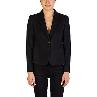 Miu Miu Women's Virgin Wool Blend Buttoned Coat Black
