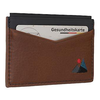 Tarjeta de crédito titular de la tarjeta estuche de cuero de los hombres fósiles 6561