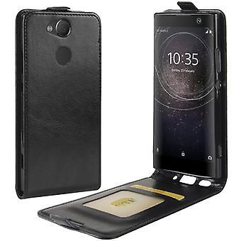 Prêmio caso Flip preto para Sony Xperia XA2 manga caso bolsa de acessórios da proteção de capa nova