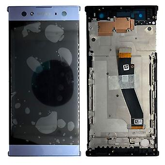 Sony display LCD complete unit with frame for Xperia XA2 ultra blue spare parts