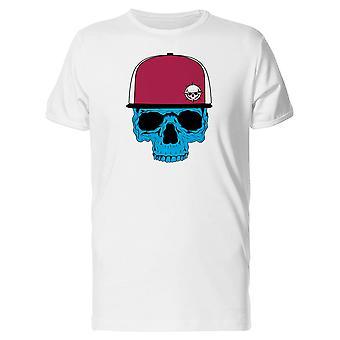 Blue Skull Red Cap Tee Women's -Image by Shutterstock