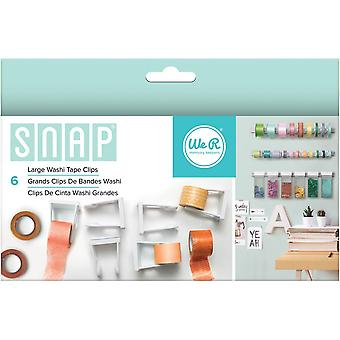 Snap Storage Washi Tape Clips 6/Pkg-Large