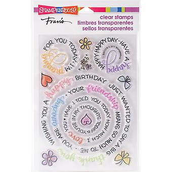 Stampendous Perfectly Clear Stamps -Circular Messages