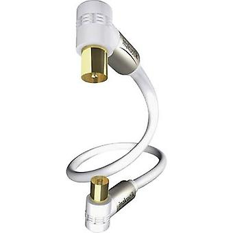 Inakustik Antennas Cable [1x Belling-Lee/IEC plug 75Ω - 1x Belling-Lee/IEC socket 75Ω] 3 m 100 dB gold plated connectors White