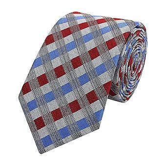 Tie slips tie slips smal 6cm röd/blå/vit rutig Fabio Farini