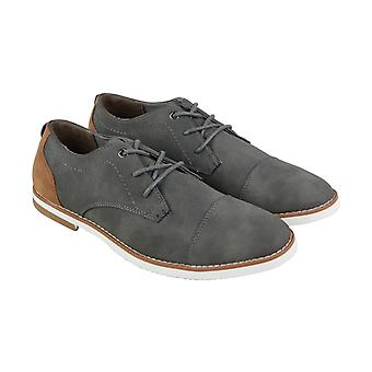 Steve Madden M-Falout Mens Gray Textile Casual Dress Lace Up Oxfords Shoes
