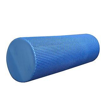 Kabalo BLUE (45cm length x 15cm diameter) TEXTURED GRID YOGA EXERCISE EVA FOAM ROLLER - TRIGGER POINT GYM PILATES PHYSIO MASSAGE TOOL ACCESSORY