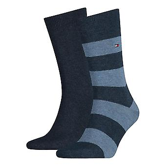 Tommy Hilfiger Rugby Striped Socks 2-Pack - Jeans