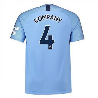2018-2019 Man City Nike Vapor Home Match Shirt (Kompany 4)