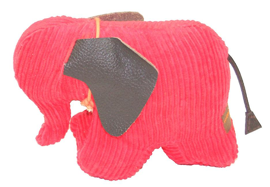 Red Jumbo Cord Elephant Paperweight by Monica Richards