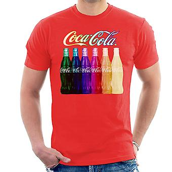 Coca Cola Rainbow Multi Bottles Men's T-Shirt
